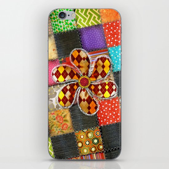 Lady Patchwork (Bulgarian Love) iPhone & iPod Skin