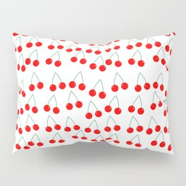 Two Red Cherries Pattern Pillow Sham