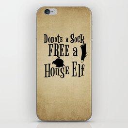 Donate a Sock FREE a House Elf iPhone Skin