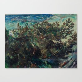 LOVIS CORINTH (Tapes 1858-1925 Zandvoort) Coast at Nienhagen. 1917th Canvas Print