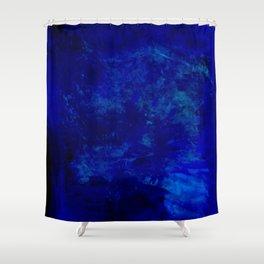 Blue Night- Abstract digital Art Shower Curtain