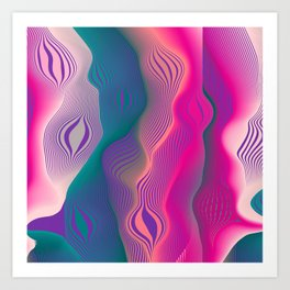 Colors bubbles Art Print