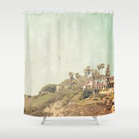 west coast Shower Curtains featuring West Coast 1 by Sylvia C