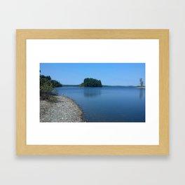 Lakeside views Framed Art Print
