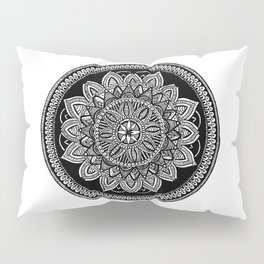 White Mandala Pillow Sham