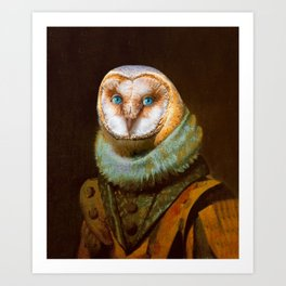 Animals - Funny Owl Painting Art Print