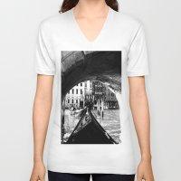 venice V-neck T-shirts featuring venice by gzm_guvenc