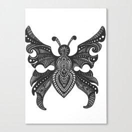 Butterfly zentangle Canvas Print
