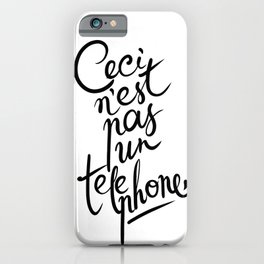 This is not art. iPhone Case
