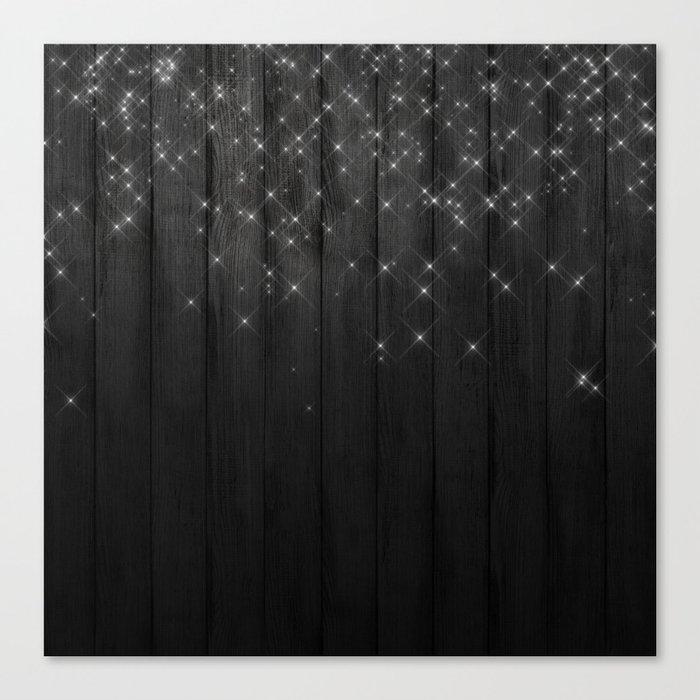 Fairy Lights on Wood 05 Canvas Print