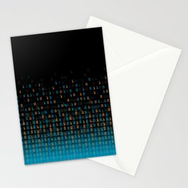 Binary Speed Blue Stationery Cards