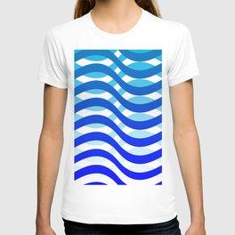 Waving Blue Pattern T-shirt