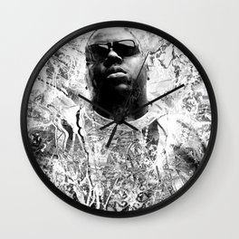 RIP BIGGIE (BLACK & WHITE VERSION) Wall Clock