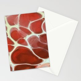 Puddles of red Stationery Cards