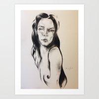cassandra jean Art Prints featuring Cassandra  by Oriane Jouët