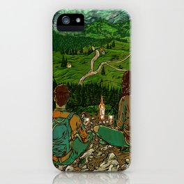 Mountains in Romania iPhone Case