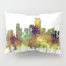 Jersey City Skyline - Safari Buff Pillow Sham