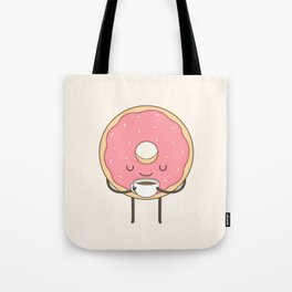 donut loves coffee Tote Bag