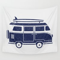 volkswagen Wall Tapestries featuring Volkswagen by adovemore