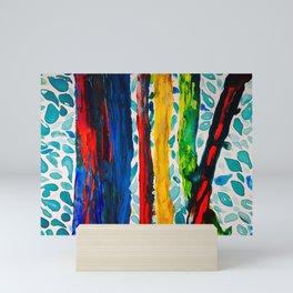 Rainbow Eucalyptus Graffiti Artist Tree naturally shedding bark from the South Pacific Mini Art Print