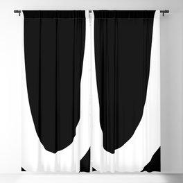 monogram u- black and white Blackout Curtain