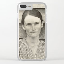 Allie Mae Burroughs by Walker Evans Clear iPhone Case