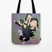 jenna kutcher Tote Bags featuring Jenna by iamewill