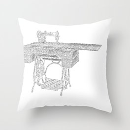 Sewing is a Seam Come True Throw Pillow