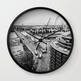 Black and White London City Wall Clock