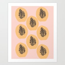 Papaya Print Art Print