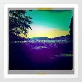 Pacific Northwest Viewfinder Summer Art Print