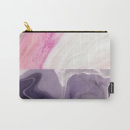 Two toned Rose & black night marble Carry-All Pouch