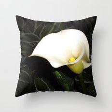 Calla Lily at Night Throw Pillow
