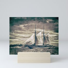 Sailing Yacht Wooden Schooner Mini Art Print
