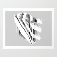 geology Art Prints featuring Geology Stripes 01 by helenlevin