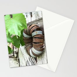 Rusty Wreath Stationery Cards