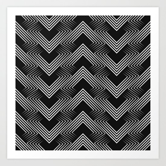 Art Deco . Mountains . Art Print
