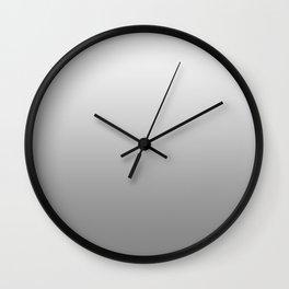 White to Gray Horizontal Linear Gradient Wall Clock