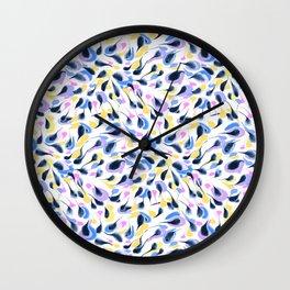Watercolor abstract pattern pattern Wall Clock