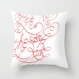 You left me in the dark Throw Pillow