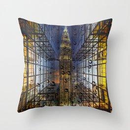 Rain in a City Throw Pillow