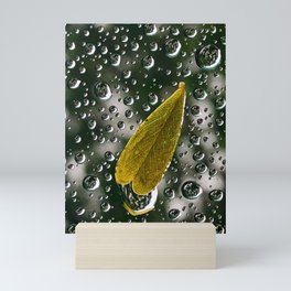 Rain on Window Mini Art Print