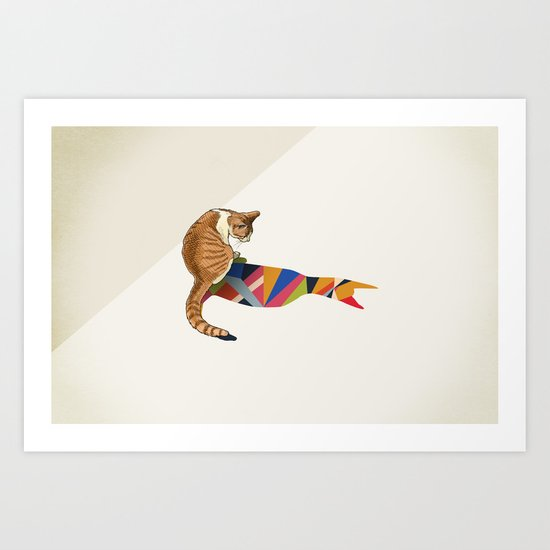 Walking Shadow, Cat 2 Art Print