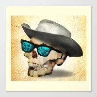 cowboy Canvas Prints featuring Cowboy by robweissillustration.com