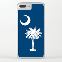 Flag of South Carolina - High Quality image Clear iPhone Case