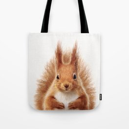 Baby Squirrel, Baby Animals Art Print By Synplus Tote Bag