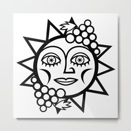 The Sun Loves Grapes Metal Print