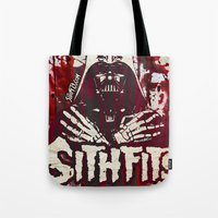 sith Tote Bags featuring Sithfits - Sith Bloody Sith by Sithfits