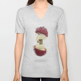 Flying Rambutan Unisex V-Neck