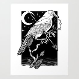 Night Crow Art Print